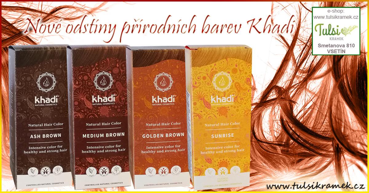 Nové odstíny přírodních barev na vlasy Khadi