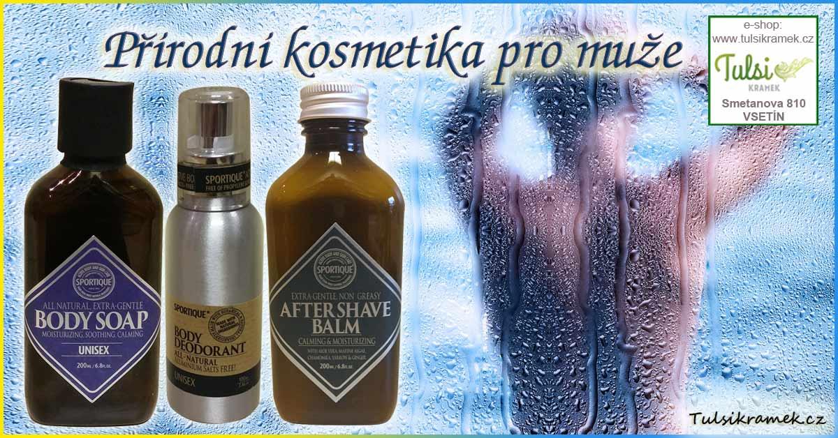 Přírodní kosmetika pro muže