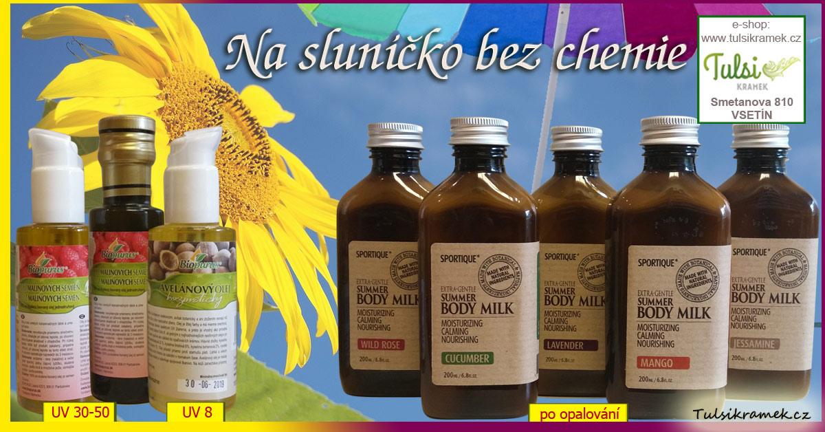 Přírodní opalovací oleje a mléka