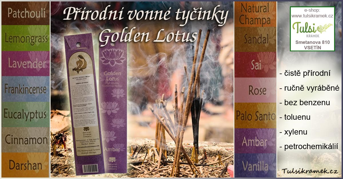 Přírodní vonné tyčinky Golden Lotus