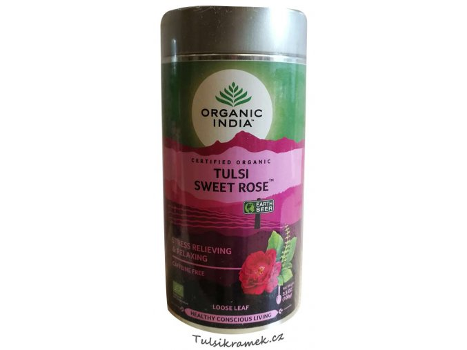 organic india tulsi sweet rose plech