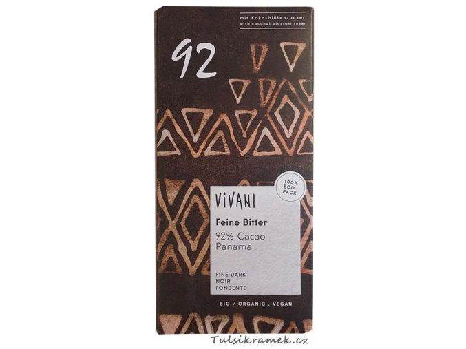 vivani horka cokolada 92 % bio
