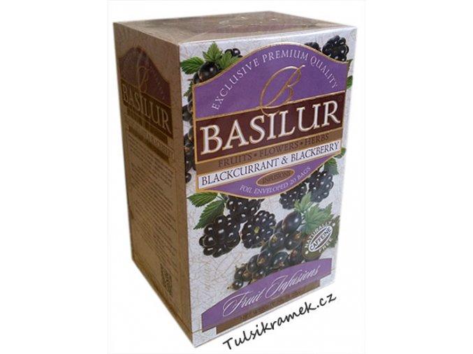 basilur ovocny caj cerny rybiz a ostružina blackcurrant and blackberry