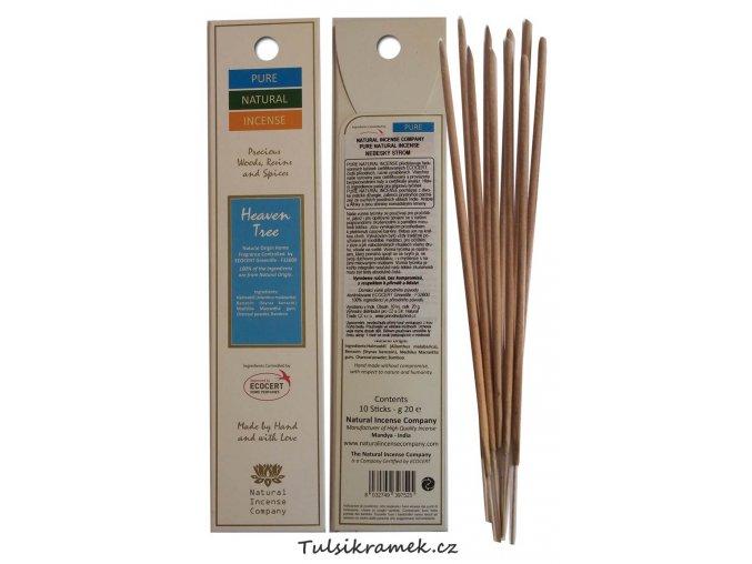 pure natural incense vonne tycinky nebesky strom