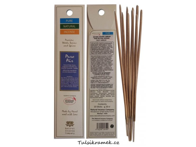 pure natural incense vonne tycinky cisty vzduch