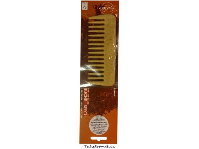 forsters hřeben ze dreva s ridkymi zuby kudrnate vlasy