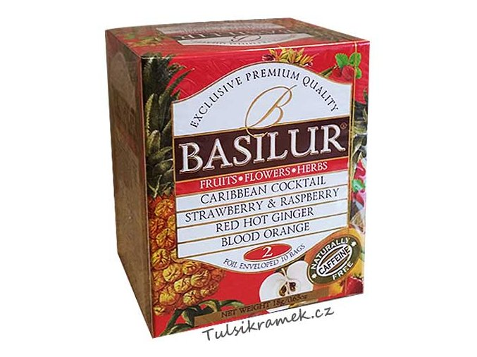 basilur fruit infusions volume II 10 sacku ovocnych caju