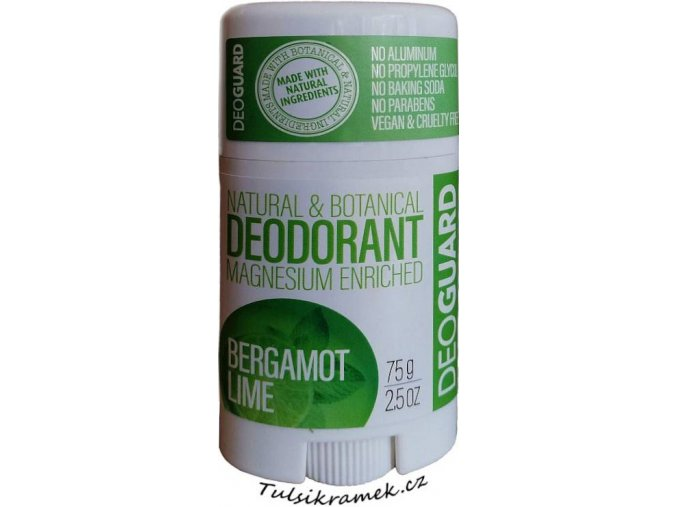 Deoguard tuhy prirodni deodorant bergamot a limetka