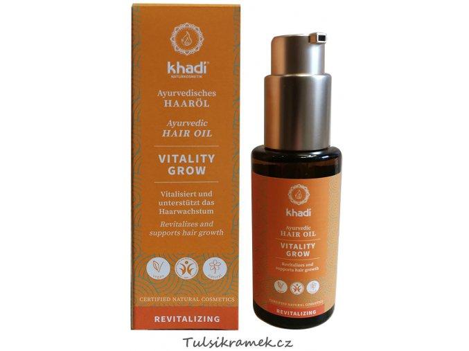 khadi vlasovy olej vitalita růst