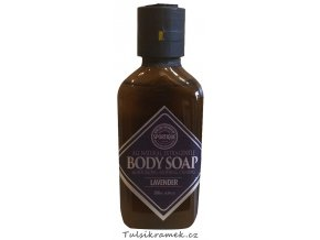 BODY SOAP - LEVANDULE - PŘÍRODNÍ OBL. A TĚLOVÉ MÝDLO 200 ml
