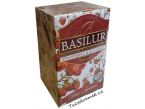 basilur ovocny caj jahoda malina straswberry and raspsberry