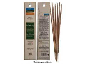 pure natural incense vonne tycinky relaxacni