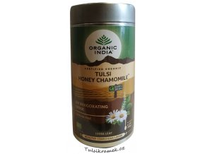 organic india tulsi s medem a hermankem plech