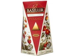 Basilur Strawberry Raspberry pyramidy 15 pyramidových sáčků