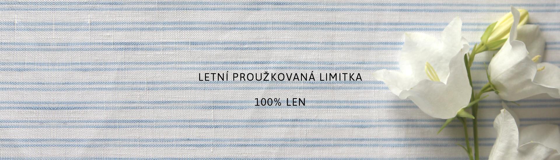 Letní limitovaná kolekce s modrým proužkem, 100% len