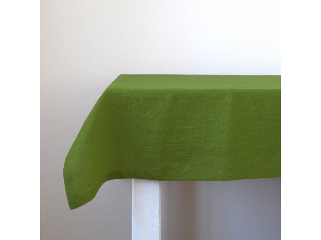 ubrus len zeleny 140x140 det6