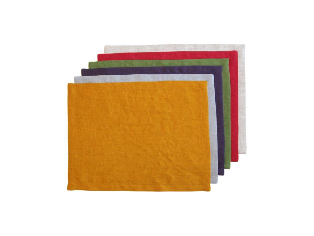 Tululum lnene prostirani barevne