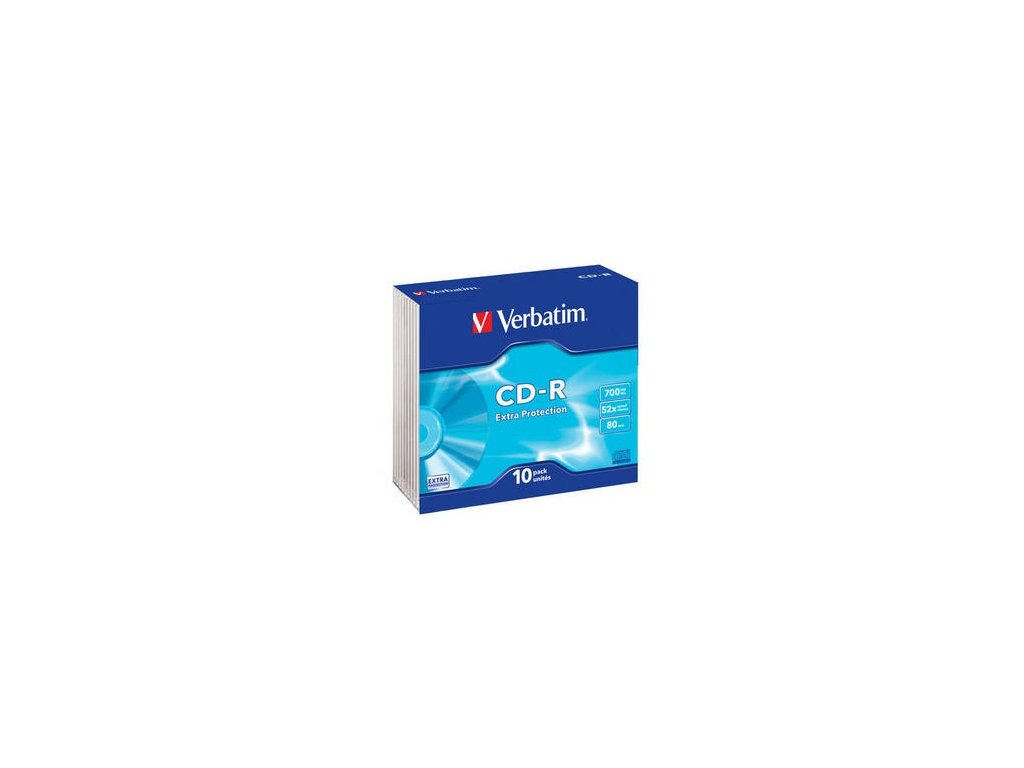 VERBATIM CD-R(10-Pack)Slim/ExtraProtection/DL/52x/700MB
