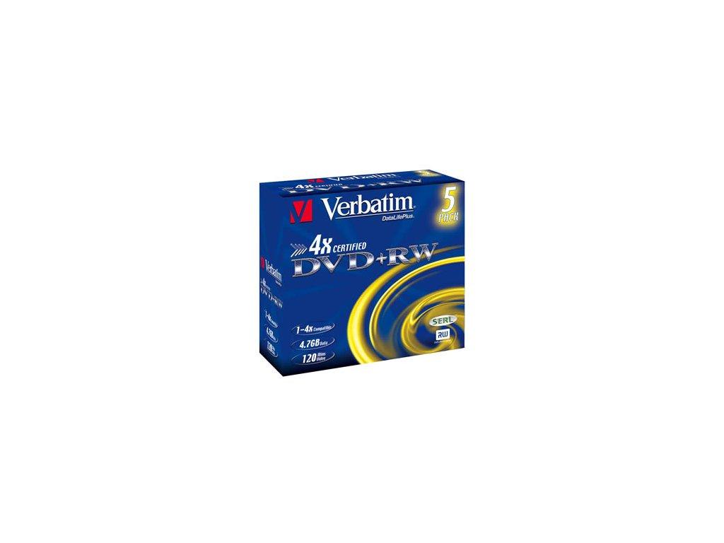 VERBATIM DVD+RW(5-Pack)Jewel/4x/DLP/4.7GB