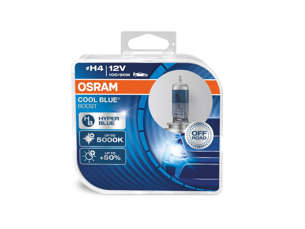 """OSRAM autožárovka """"H4"""" OFF ROAD COOL BLUE BOOST 12V 100/90W P43t (Duo-Box)"""