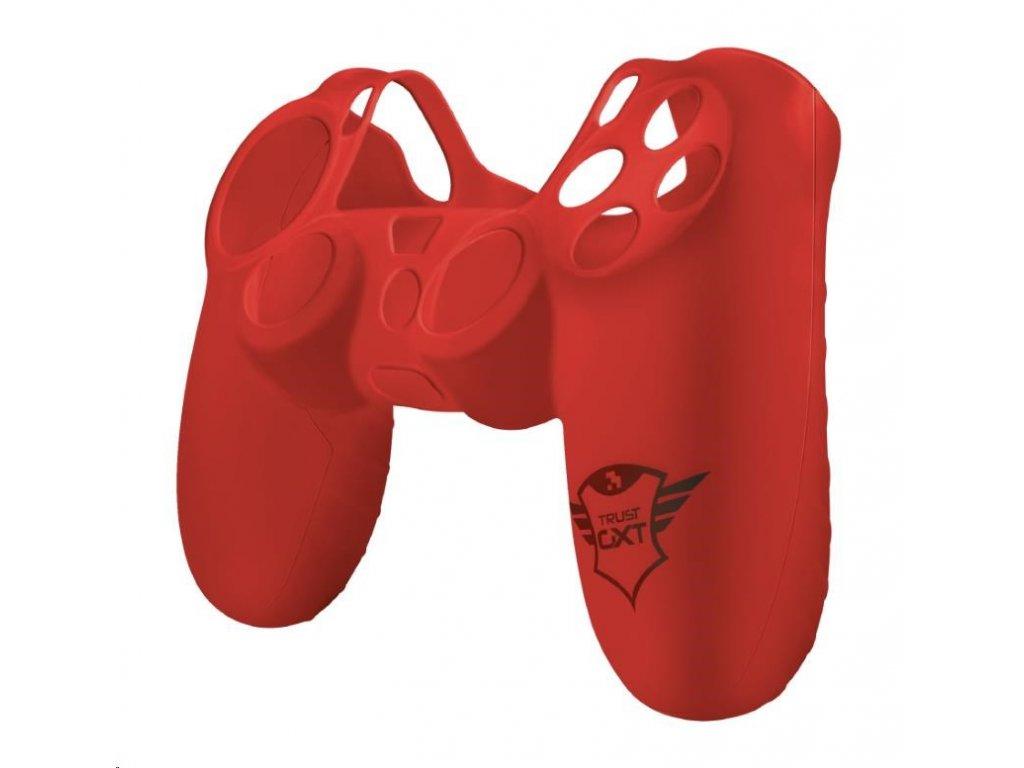 TRUST silikonový obal pro PS4 GXT 744R Rubber Skin - červený
