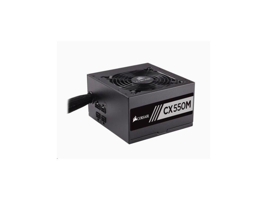 CORSAIR zdroj, CX550M-80 PLUS® Bronze Certified PSU (ATX, 550W, Semi-modular)