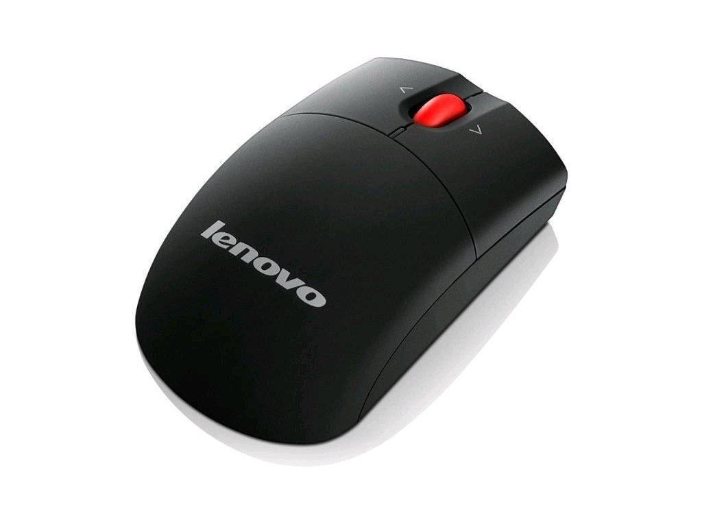 LENOVO myš bezdrôtová Laser Wireless Mouse (mini veľkost) - 1600dpi, 2.4GHz, Laser, USB vysielač,3 tlačidlá, 2xAA,čierna