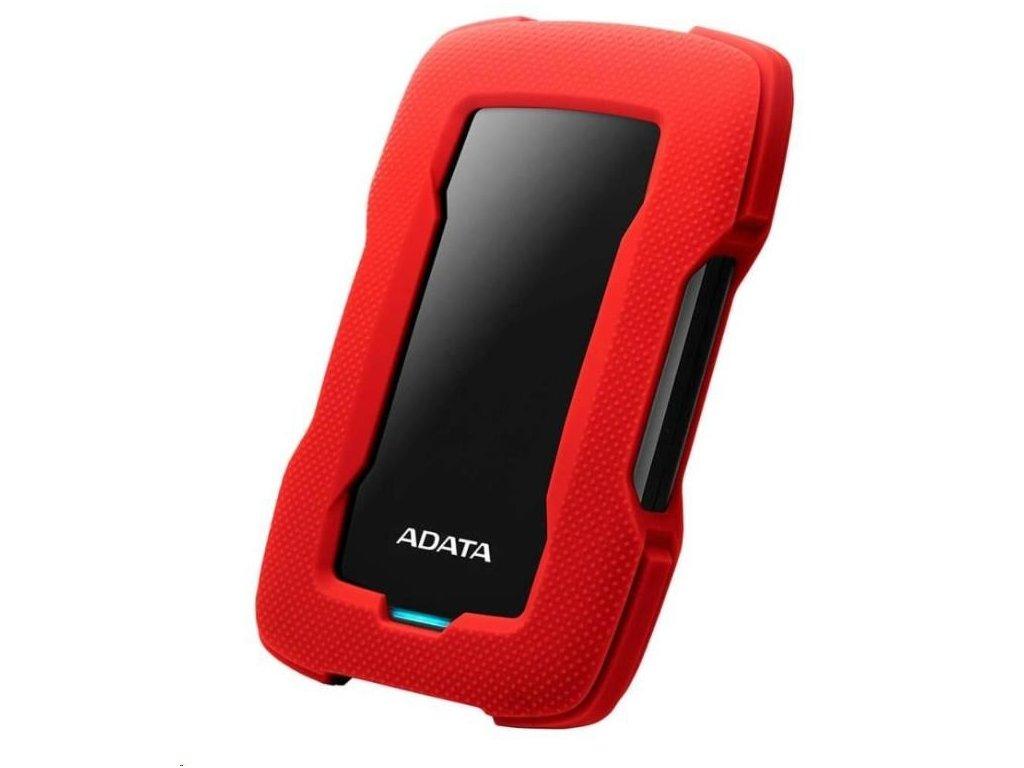 """ADATA Externí HDD 1TB 2,5"""" USB 3.1 HD330, RED COLOR BOX, červený (gumový, nárazu odolný)"""