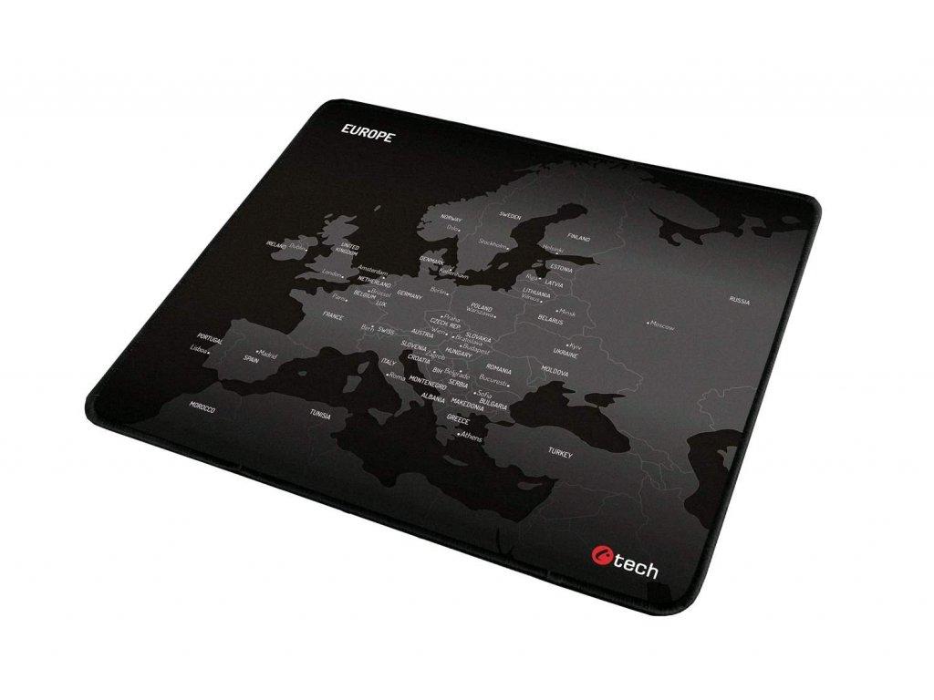 C-TECH herní podložka pod myš MP-01E (Europe), 320x270x4mm, obšité okraje