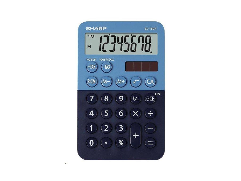 SHARP kalkulačka - EL760RBBL - Stolní kalkulátor