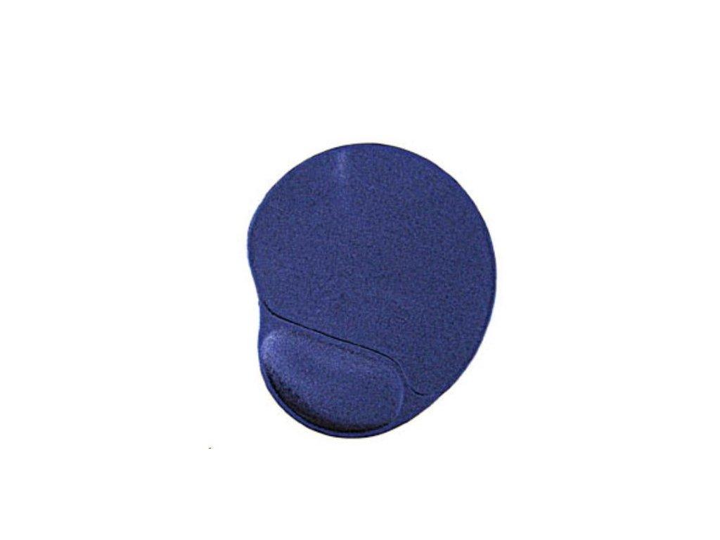 GEMBIRD Podložka pod myš gelová ergonomická Maxi, modrá