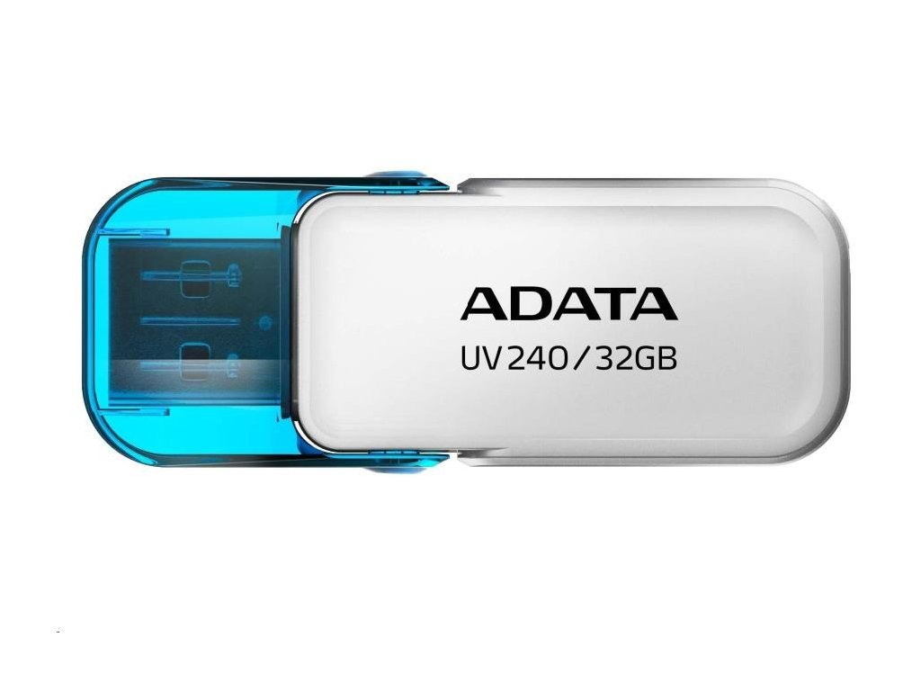 ADATA Flash Disk 32GB UV240, USB 2.0 Dash Drive, bílá