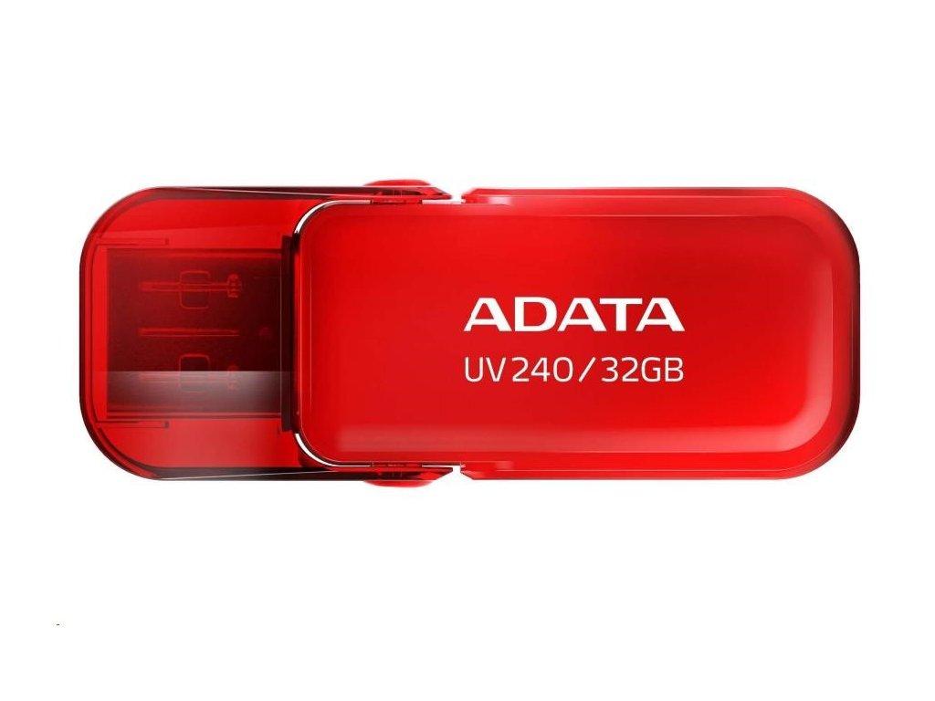 ADATA Flash Disk 32GB UV240, USB 2.0 Dash Drive, červená