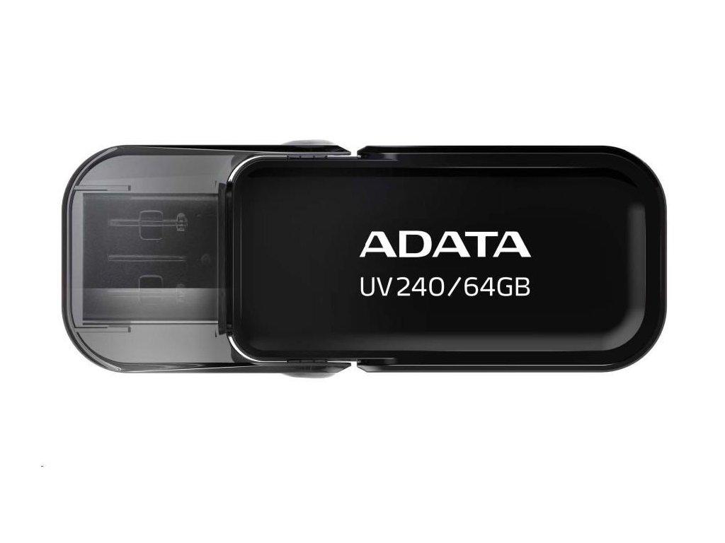 ADATA Flash Disk 64GB UV240, USB 2.0 Dash Drive, černá