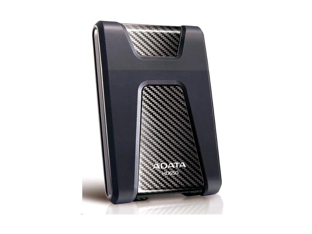 """ADATA Externí HDD 1TB 2,5"""" USB 3.1 DashDrive Durable HD650, černý (gumový, nárazu odolný)"""