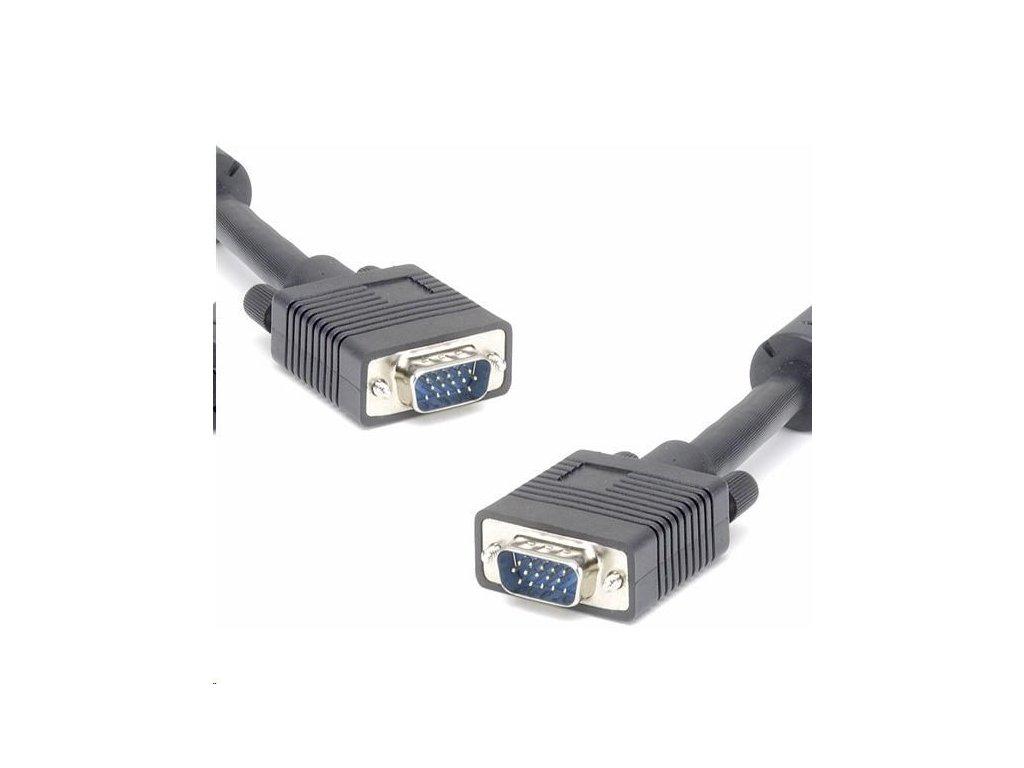 PREMIUMCORD Kabel k monitoru HQ (Coax) 2x ferrit,SVGA 15p, DDC2,3xCoax+8žil, 2m
