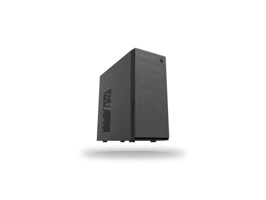 CHIEFTEC skříň Elox Series HC-10B, Miditower, USB 3.0, Black with Hair brush design front panel, bez zdroje