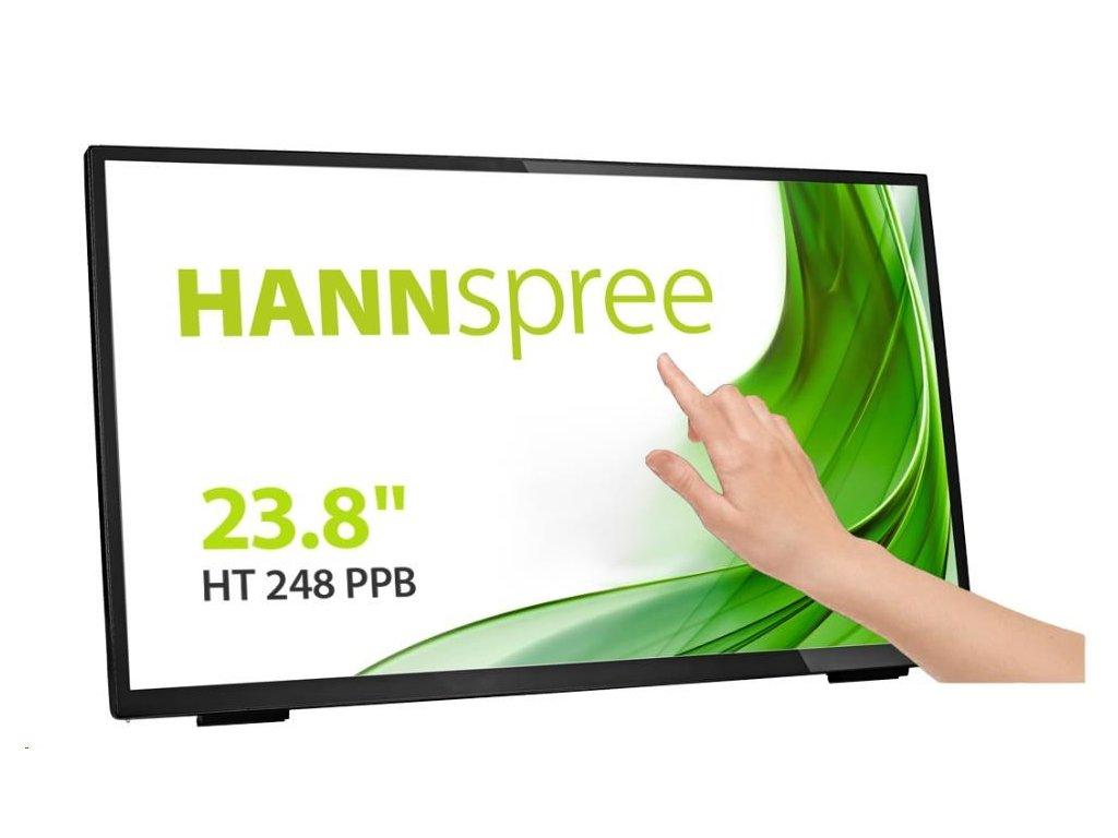 "HANNspree MT LCD HT248PPB 23,8"" Touch Screen, 1920x1080, 16:9, 250cd/m2, 3000:1 / 10M:1, 8ms"