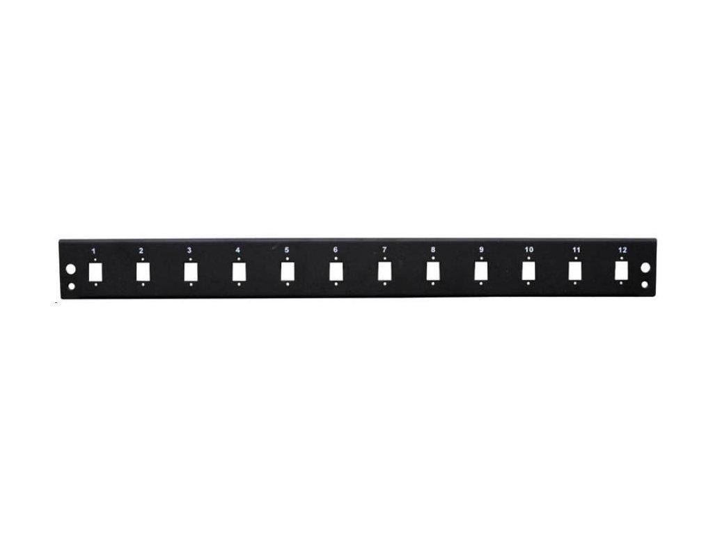 OEM Čelo optické vany (OPVANA1UN-BLACK) 12xSC simplex