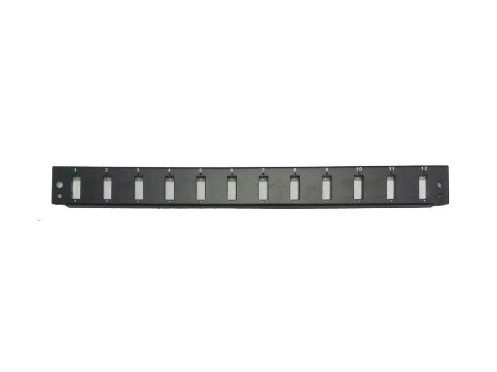 OEM Čelo optické vany (OPVANA1UN-BLACK) 12xSC duplex