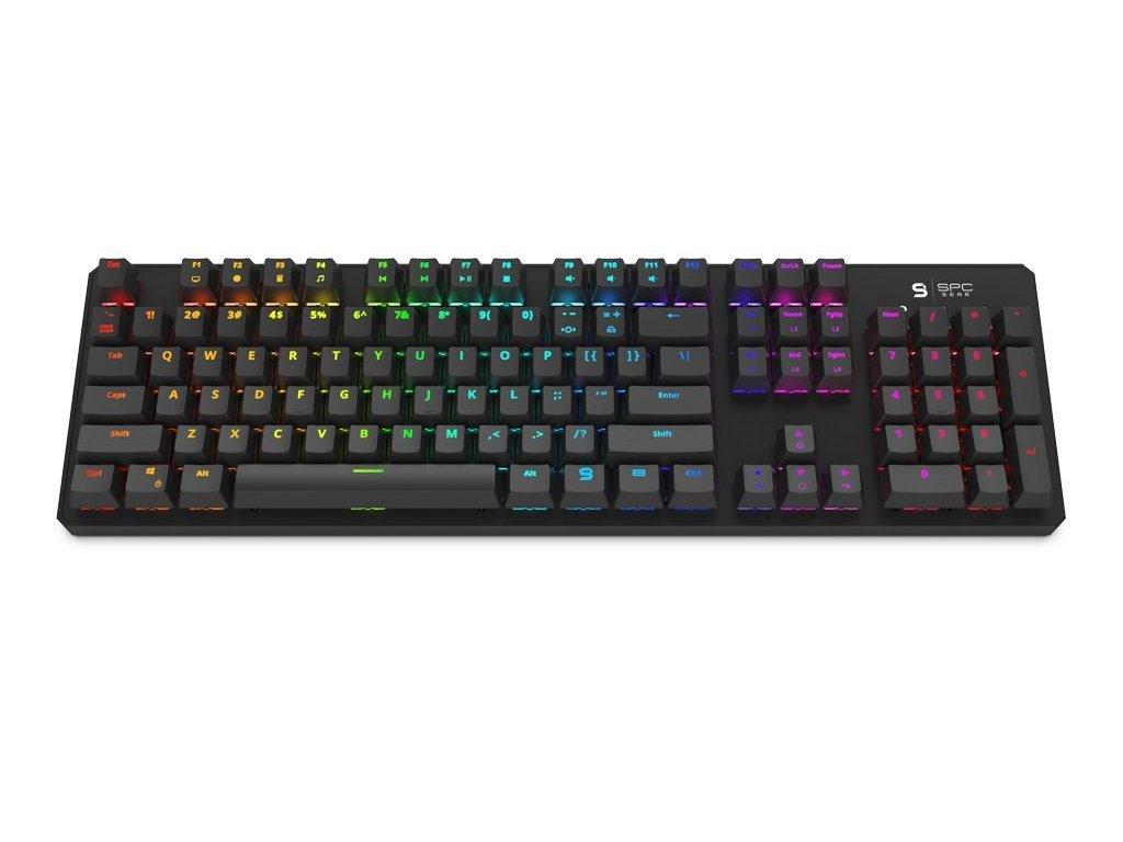 SPC Gear klávesnice GK540 Magna / mechanická / Kailh Blue / RGB podsvícení / US layout / USB