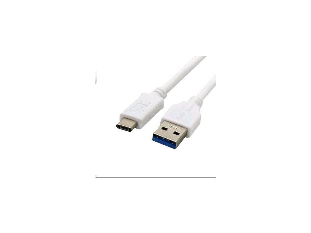 Kabel C-TECH USB 3.0 AM na Type-C kabel (AM/CM), 2m, bílý