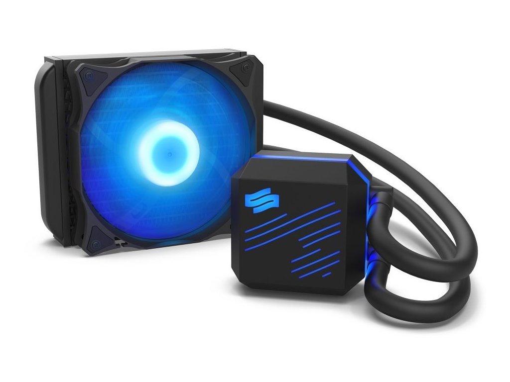 SilentiumPC vodní chladič Navis RGB 120 AiO / 120mm fan / 22dBA / pro AM3, AM4, LGA 2066, 2011, 1155, 1151, 1156, 1366