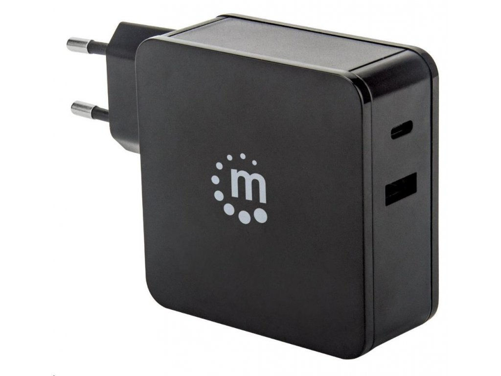 MANHATTAN USB nabíječka Power Delivery Wall Charger – 60 W, černá