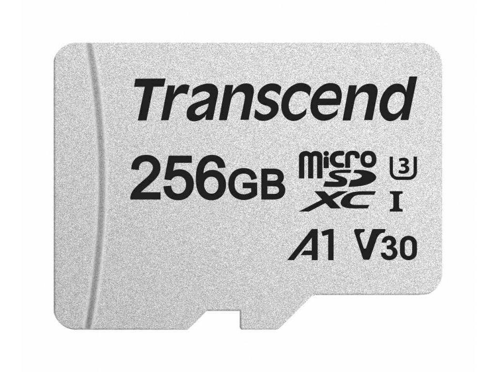 TRANSCEND MicroSDXC karta 256GB 300S, UHS-I U3 V30 + adaptér