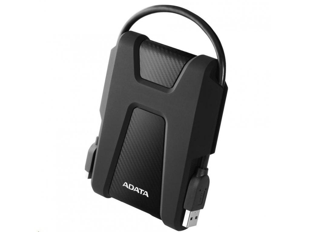 """ADATA Externí HDD 2TB 2,5"""" USB 3.1 AHD680, černý (gumový, nárazu odolný)"""