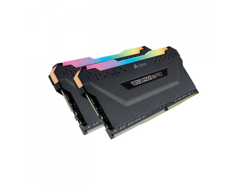 CORSAIR Vengeance RGB PRO black 16GB, DDR4, DIMM, 3200Mhz, 2x8GB, XMP, CL16