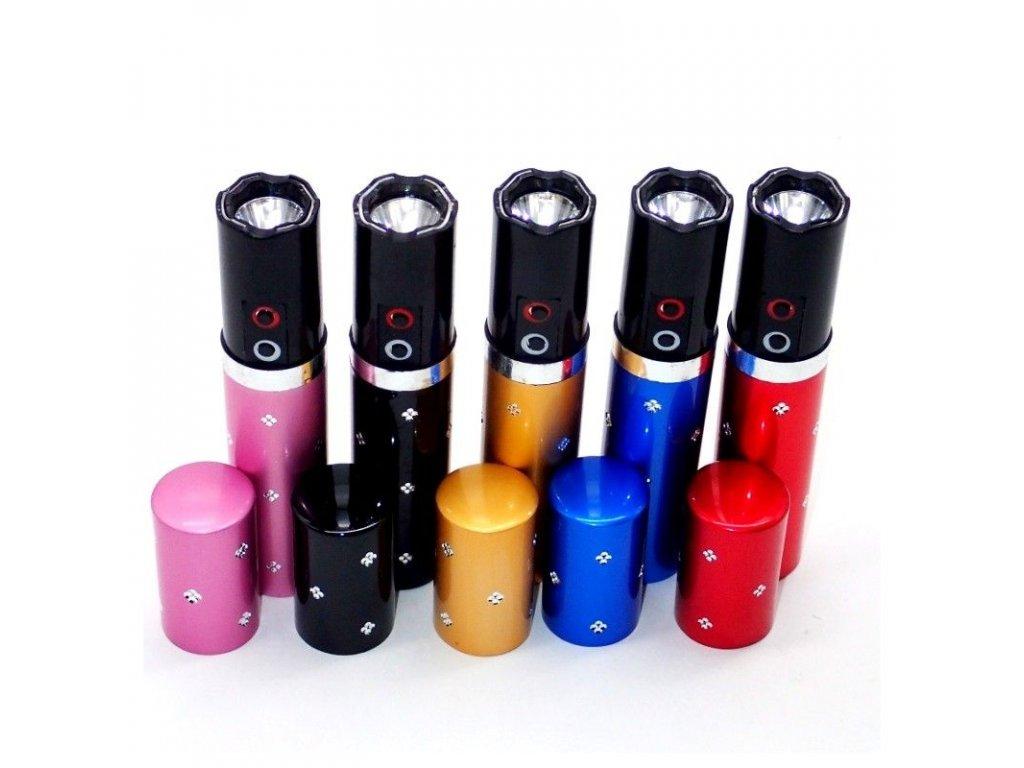 TFY P1 Paralyzér s LED baterkou v tvare rúžu červená (3)