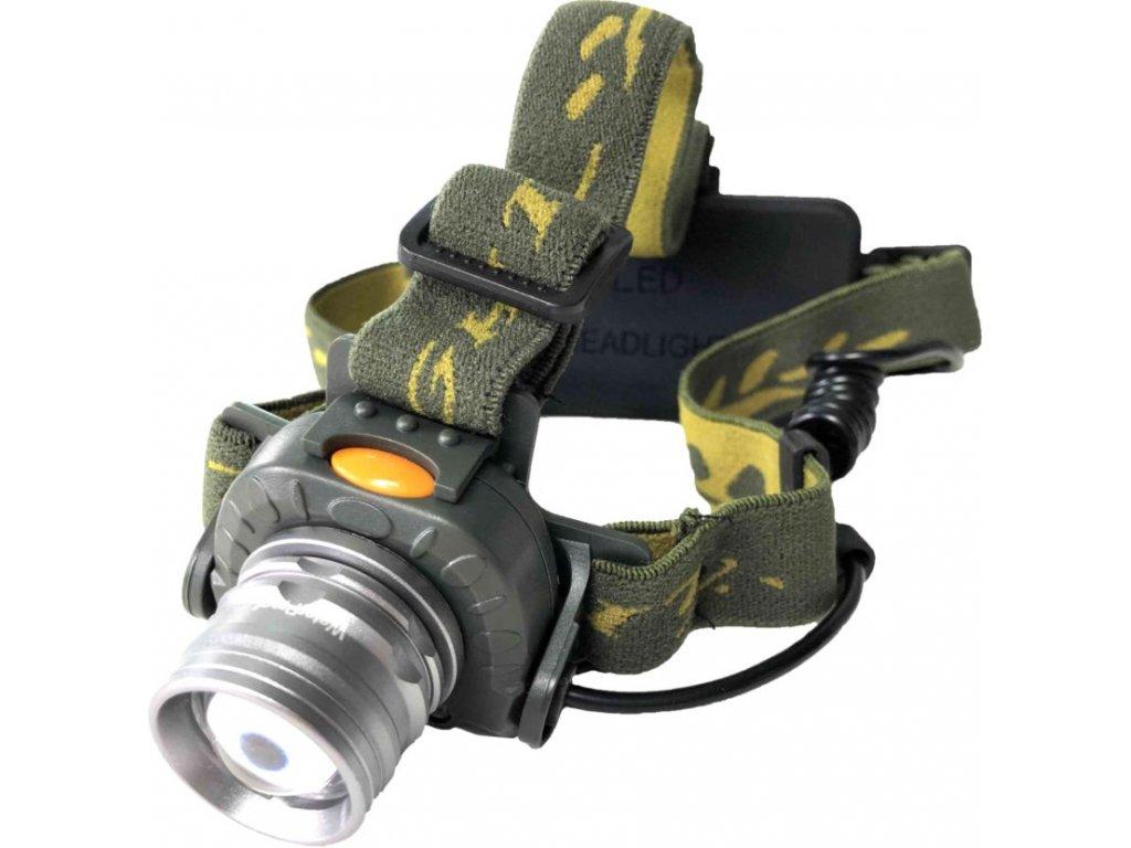 Nabíjacia čelovka ARMY Green Senzor pohybu (1)