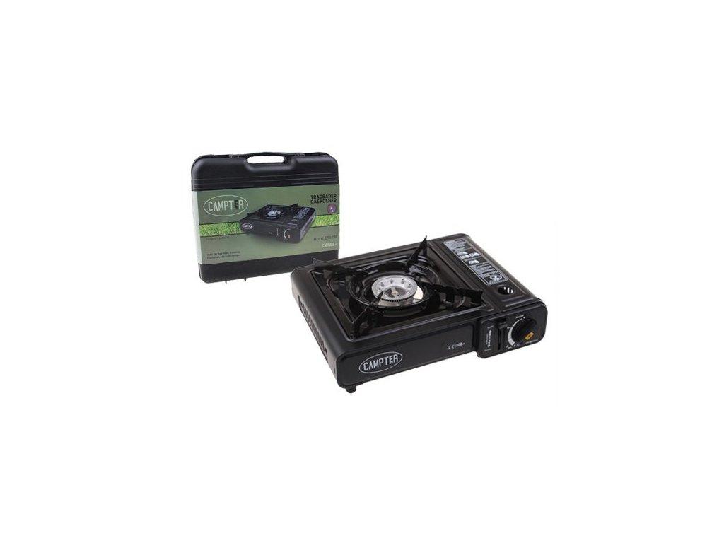 Campter CTR-138 plynový varič + prenosný kufrík a 2ks kartuše ZADARMO